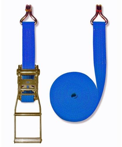 Braun - Pulpo con hebilla y ganchos para baca (4000 daN, 2 piezas, 10 m, 50 mm de ancho), color azul
