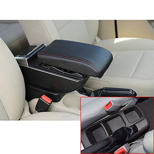 Muchkey de Voiture Accoudoir Boîte sans USB pour 2006–2010 LOVA Housse Accoudoir Console Centrale Cuir PU Accessoires de décoration d'intérieur Noir