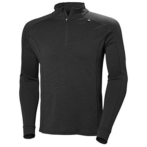 Helly Hansen HH LIFA Merino Classic 1/2 Zip T-Shirt à Manches Longues pour Homme Noir XL 990 Noir