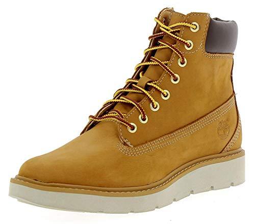 Timberland Damen Kenniston 6 Inch Lace Up Stiefel, Gelb (Wheat Nubuck), 37.5 EU