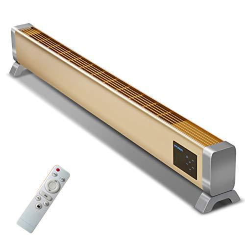 zyifan Riscaldatore per battiscopa con conversione Automatica della frequenza, radiatore Elettrico a Pavimento a convezione radiante, riscaldatore a Distanza Intelligente