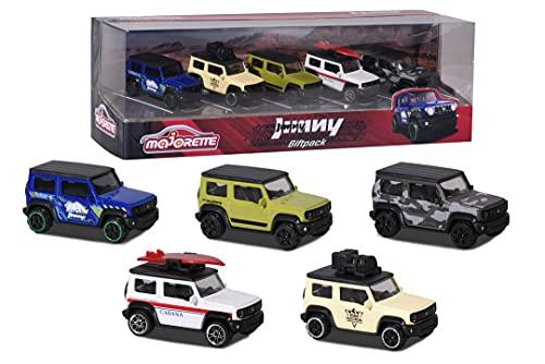 Majorette - Suzuki Jimny Giftpack - Voitures Miniatures en Métal - Coffret 5 Véhicules - 212053177