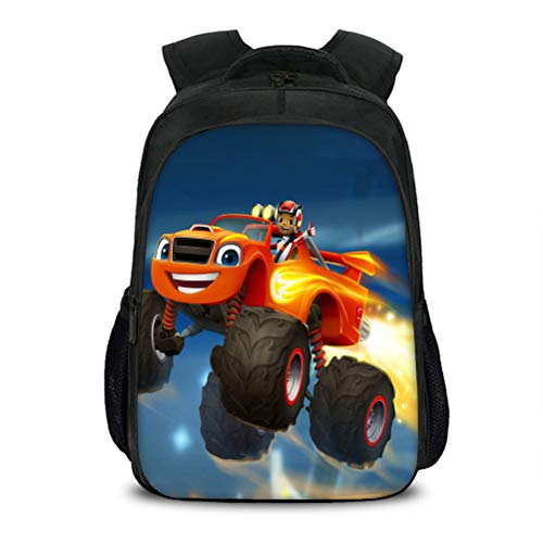 Blaze and The Monster Machines High Capacity Backpack Compact and Lightweight School Bag Suitable for School Boys and Girls Popular Styles Travel Bag Portable School Daypack Kids