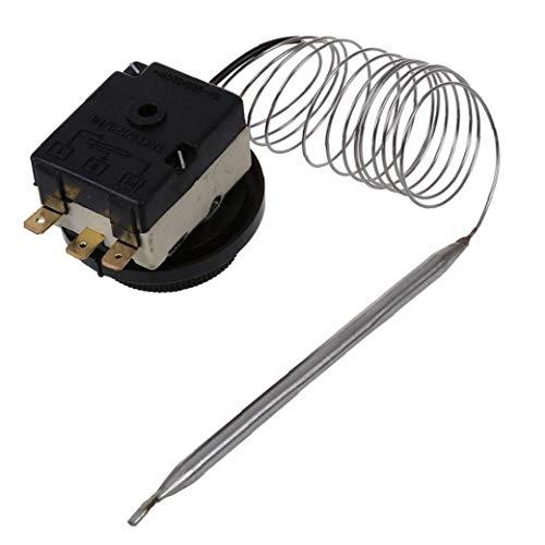 Runfon Interruptor De Control De Temperatura 250v / 380v 16a 0-40c Estable Temperatura Interruptor De Control Capilar del Termostato