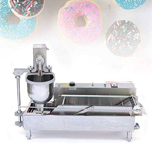 6000W 300-1200PSC/H 6KW Automatic Donut Making Machine1440 Small Donuts Per Hour Best Commercial Home Heavy Duty Electric Automatic Doughnut Machine Donut Fryer
