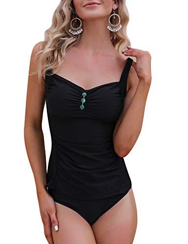 Doaraha Tankinis Mujer Traje de Baño de Dos Piezas Tirantes Ajustables Tops Tankini y Breifs Diseño de Flores Bañadores Conjuntos de Bikinis para Playa,Piscina,Vacaciones