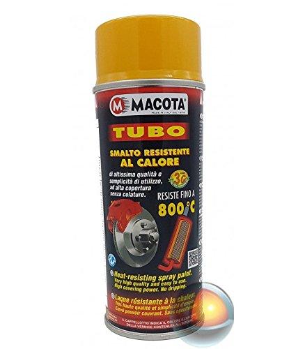 VERNICE SPRAY MACOTA TUBO - RESISTENTE ALLE ALTE TEMPERATURE FINO A 800°C Giallo