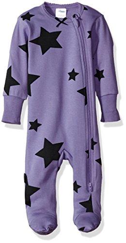 Blue Banana Baby-Mädchen Sleeper Side Zip Schlafanzug, violett, 1 Monate