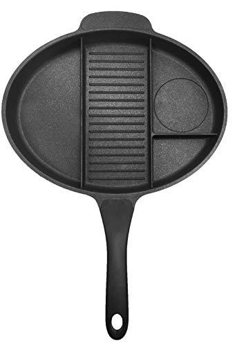 Jocca Sartén Multifunción 4 en 1, Aluminio, Negro, 35 cm