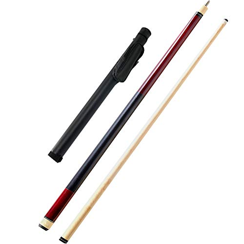 ZMg 57 Zoll 19 Oz Billiard Queue,with 12mm Cue Tips Maple Snooker Pool Cue Sticks/rot/Rod bag