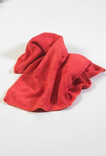 Paragon Microfibre Chiffons d'usage général de qualité supérieure- Rouge écarlate X10