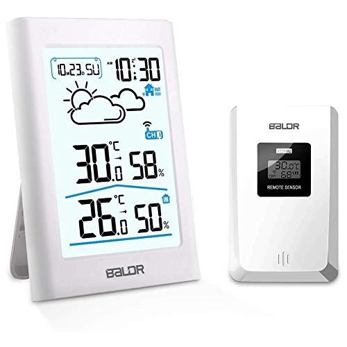 SINZON Station météo sans Fil, Thermomètre Hygromètre Baromètre Intérieure Extérieure avec...