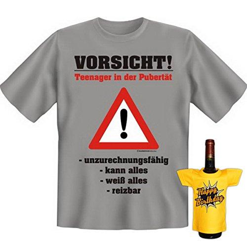 Goodman Design Cooles Geburtstagsset für Jugendliche : Vorsicht, Teenager.! mit extra Mini Shirt