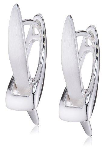Vinani Klapp-Creolen X-Form Sterling Silber 925 Ohrringe CXV