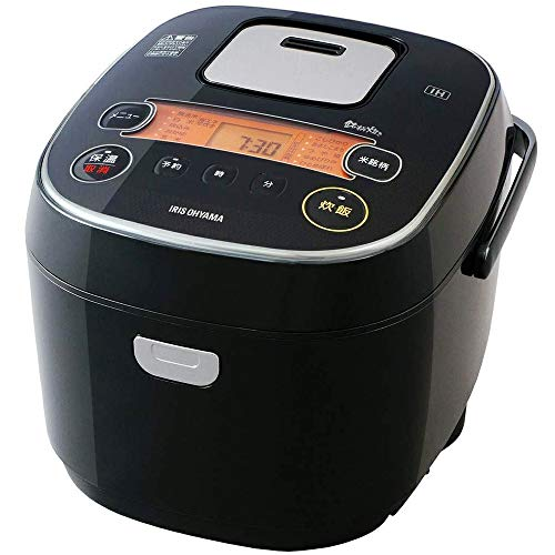 アイリスオーヤマ IH炊飯器 一升 10合 IH式 31銘柄炊き分け機能 極厚火釜 玄米 IH式 ブラック RC-IE10-B