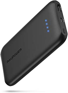 Quick Charge 3.0 RAVPower 10000mAh Portable Charger with QC 3.0 Input & Output, Ultra-Slim 10000 Power Bank with High-Density Li-Polymer Battery Pack for iPhone, iPad, Galaxy and More