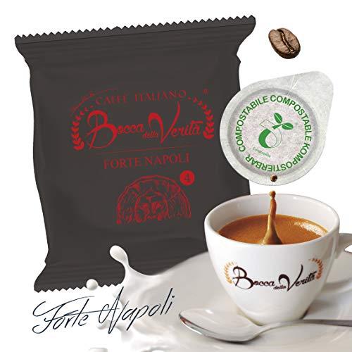 Caffè Italiano Bocca Della Verità Pads FORTE NAPOLI - Packung mit 100 Pads - kompatibel ESE 44 mm