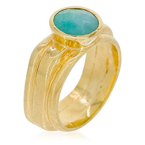 Mes-bijoux.fr - Anello Flora Amazonite, colore: Verde e...