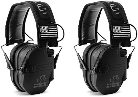 Walker s GWP RSEMPAT Razor Slim Shooting Ear Protection Muffs with NRR 23 dB Black Patriot 2 product image