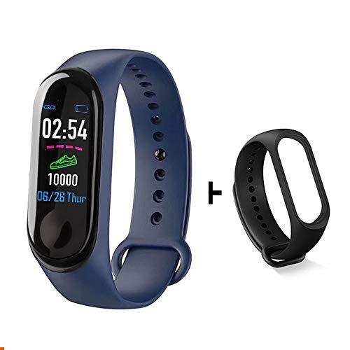 ZQINY Fitness Tracker Activity Tracker met hartslagmeter, stappenteller, 8 sportmodi, calorieënteller, slaapmonitor, IP68 waterdichte armband voor Android en iPhone, B