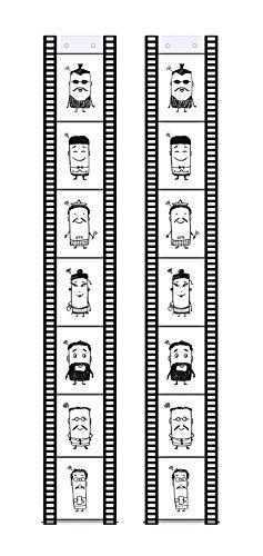 Trendfinding 2 Fototaschen Fotohalter Filmstreifen Hochformat 13 x 18 cm für je 7 Fotos