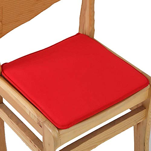 LCK Cotton Blend Cushions Dining Garden Home Kitchen Office Chair Seat Pads Cushion,Red,40x40cm