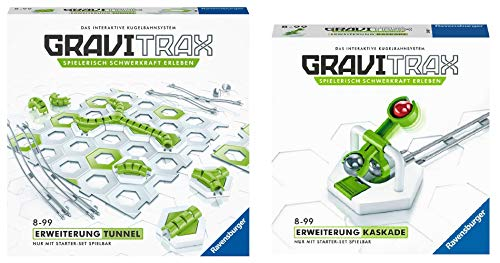 GraviTrax 27614 Tunnel Spielzeug, bunt & 27612 Kaskade Spielzeug, bunt
