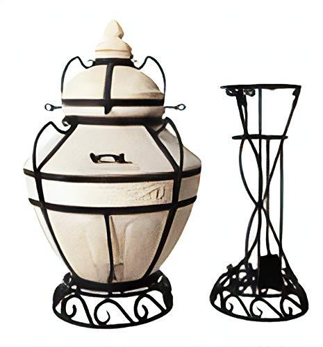 amfora/Amphora Tandoor sarmat Aladdin Oven, & # X422; & # CP-X430; & # x43d; & # x434; & # x44b; & # x440;, Rojo tandoori, tandir, tandyr, Tandoor, parrilla, Inscripción Feinschmecker Horno