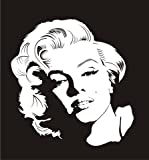 Marilyn Monroe v2 Decal Sticker - Peel and Stick Sticker Graphic - - Auto, Wall, Laptop, Cell, Truck Sticker for Windows, Cars, Trucks