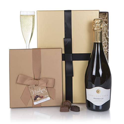 Prosecco and Chocolate Truffles Gift Hamper - Wine Gifts For Her - Ladies Hampers & Gift Hampers