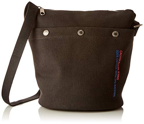 Calvin Klein Jeans - Canvas Utility Bucket W/Z Pouch, Carteras Mujer, Negro (BLACK), 20x26x31 cm (B x H T)