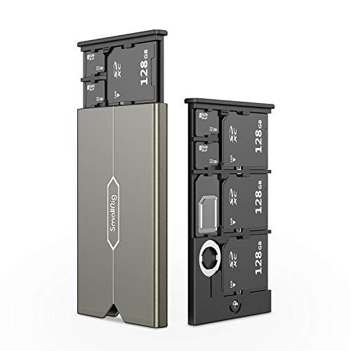 SmallRig SDカード用ケース メモリカードケース Micro SDカード用 SIMカード用 6枚収納可能-2832