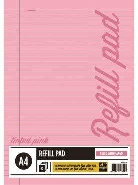A33® - Bloc de recambio para papel tintado (tamaño A4), color rosa, color rosa 3 unidades