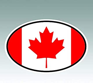 RDW Canada Oval Sticker - Die Cut - Decal - CA v7 Country Code Euro - Size: 4.99