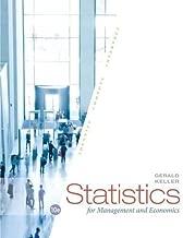 Statistics for Management and Economics by Gerald Keller(2014-01-01)