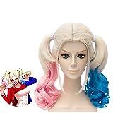 1pc perruques colorés onduleux bouclés perruques de cheveux synthétiques Résistance à la chaleur pleine Perruques Cosplay Costume Parti perruques pour les filles