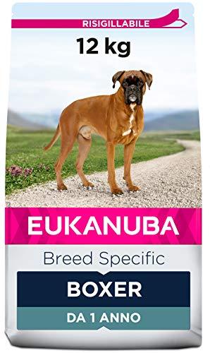Eukanuba Breed Specific Alimento Secco per Boxer Adulti, Cibo per Cani Adattato in Modo Ottimale alla Razza 12 kg