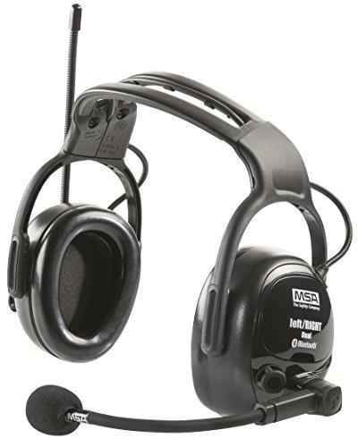MSA Safety - Paraorecchie wireless con radio, amplificazione del rumore, connessione Bluetooth, accoppiamento smartphone e microfono, SNR: 28 dB