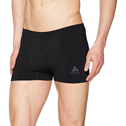 Odlo Herren Boxers Evolution Light Unterhose, Black Graphite Grey, S