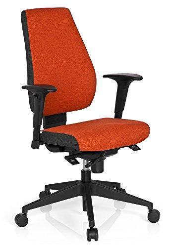 hjh OFFICE 608818 Profi Bürostuhl PRO-TEC 500 Stoff Rot Drehstuhl ergonomisch, Rückenlehne & Armlehnen höhenverstellbar