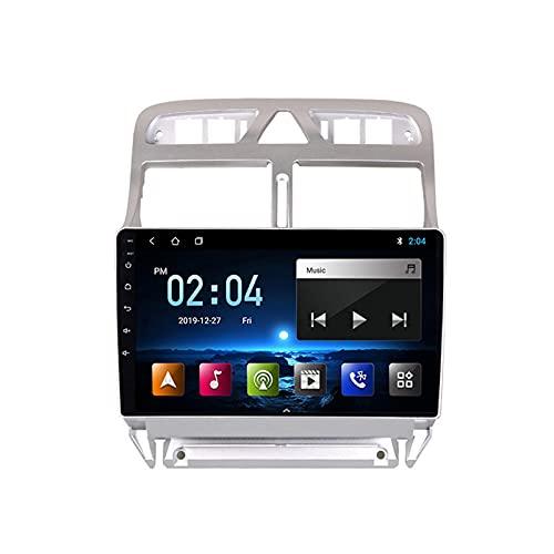 Radio Coche Bluetooth Car Estéreo 9 Pulgadas Pantalla Táctil Reproductor MP5 Radio FM, con Cámara Trasera, para Peugeot 307 2002-2013 Apoyo Control del Volante 1080P Video,Quad Core,4G WiFi 1+32