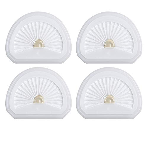 4Pack VLPF10 Replacement Filters Compatible with Black and Decker Hand Vacuum Filter Model # HLVA320J00 HLVA315j & N575266
