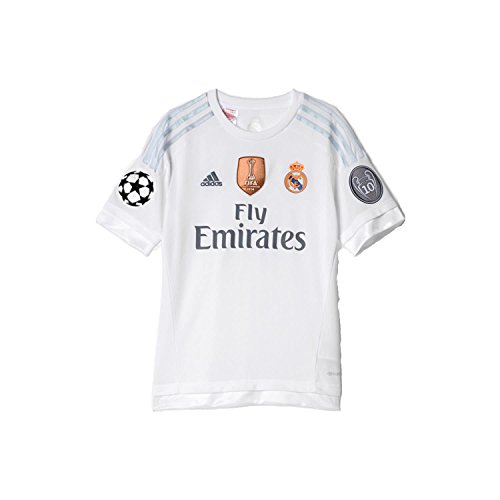 adidas Kinder Real Madrid Home Trikot YUWC 2015/16 White/CLGrey 152