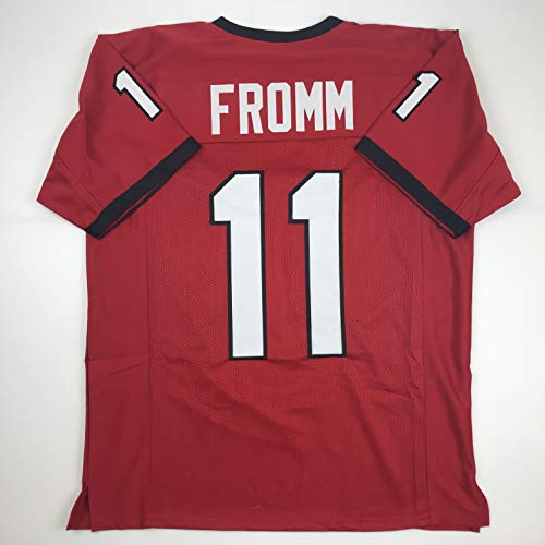 Unsigned Jake Fromm Georgia Red Custom Stitched College Football Jersey Size Men's XL New No Brands/Logos