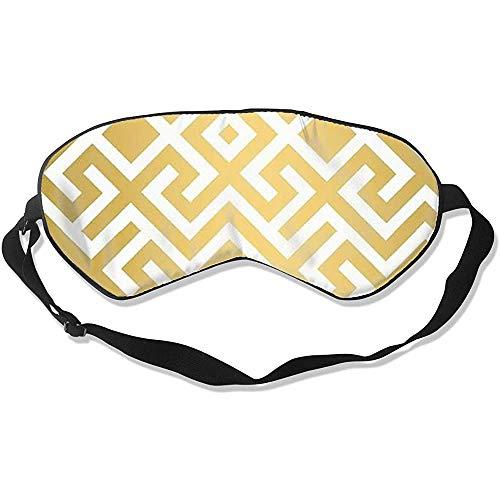 Sleep Mask,Geometrische Goldbarren Bedruckte Schlafmaske, Langlebige Verstellbare Schlafmasken Für Hotelflugreisen