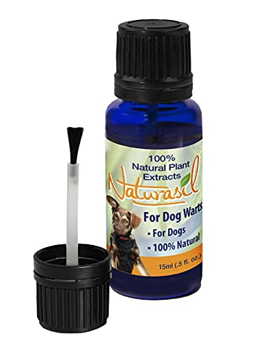 Naturasil Dog Warts Removal Treatment   100% Natural, No Acids, Animal Safe, Pain Free   15mL   Also Helps to Eliminate Dog Skin Tags