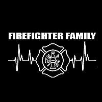 Abbpa 消防士明るいビニール車ステッカーデカール17.2cmx8.8cmと消防士の家族のための不可欠なツール (Color : White)