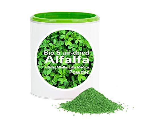 Alfalfapulver Bio 1kg - Rohkostqualität|Bio-Alfalfa aus deutschen Anbau |bio|vegan|Pur|Good Nutritions