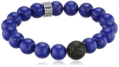 Thomas Sabo Herren-Armband 925 Silber Lapis Lazuli blau Zirkonia 15.5 cm-A1534-930-32-L15,5
