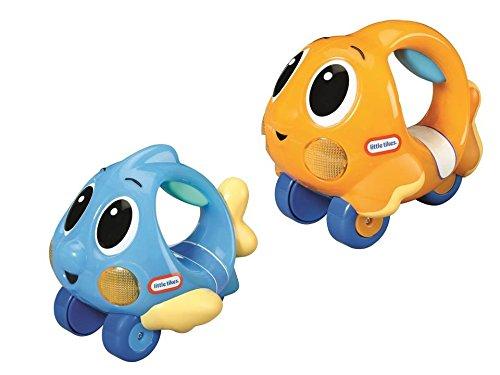 little tikes Lil Ocean Explorers Poisson Push n' Glow – Véhicule Facile à Tenir + lumières & Sons – Jouet de bébé divertissant – Encourage Les Jeux imaginatifs – Dès la Naissance à 3 Ans – Assorti